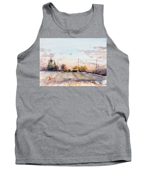 Winter Sunrise On The Lane Tank Top by Judith Levins