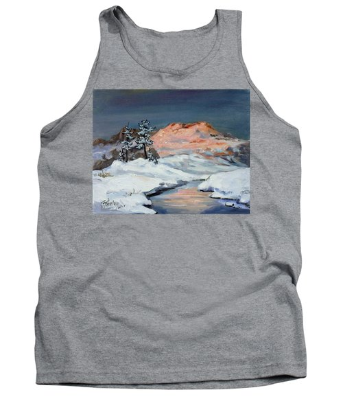 Winter Sunset In The Mountains Tank Top