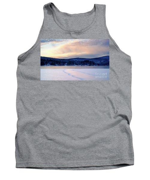 Winter Sunset On Wilson Lake In Wilton Me  -78091-78092 Tank Top