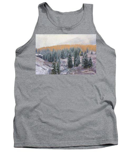 Winter Touches The Mountain Tank Top