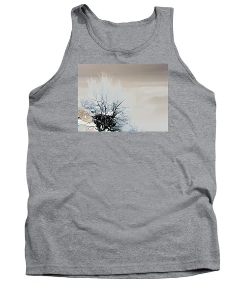 Winter Tree On Mountain Bluff Tank Top by Frank Bright