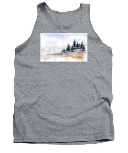 Winter Watercolor Painting Tank Top