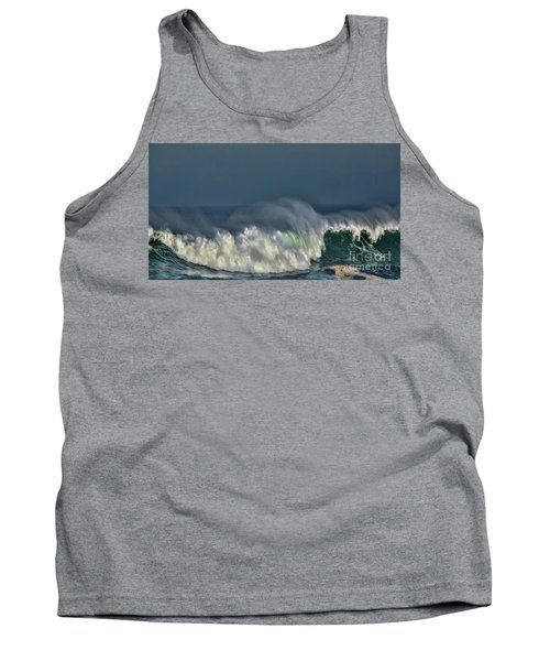 Winter Waves And Veil Tank Top by Shirley Mangini