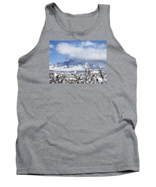 Tank Top featuring the photograph Organ Mountains Winter Wonderland by Kurt Van Wagner