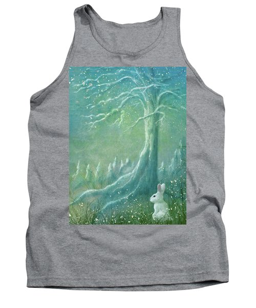 Tank Top featuring the digital art Winters Coming by Ann Lauwers