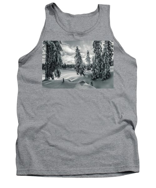 Winter Wonderland Harz In Monochrome Tank Top by Andreas Levi