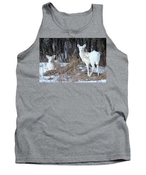 Wintery White Tank Top by Brook Burling