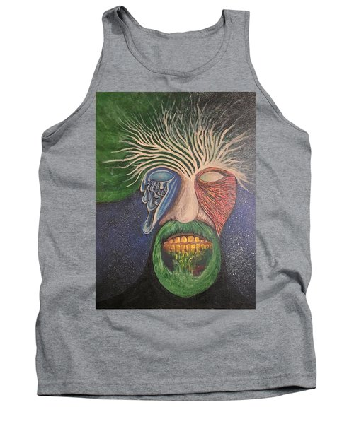 Tank Top featuring the mixed media WIP by Steve  Hester
