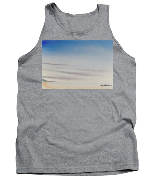 Tank Top featuring the painting Wisps Of Clouds At Sunset Over A Calm Bay by Dorothy Darden