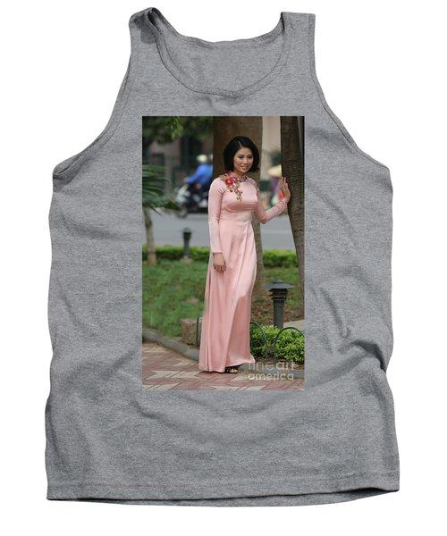 Woman Ao Dai Dress  Tank Top