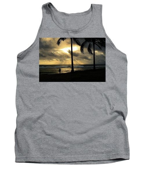 Woman In The Sunset  Tank Top
