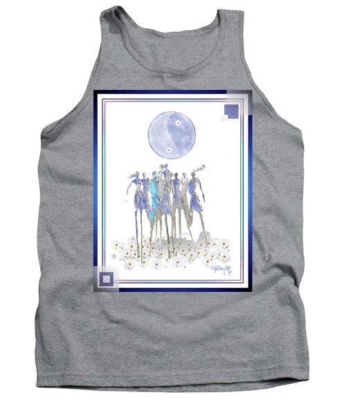 Women Chanting - Full Moon Flower Song Tank Top