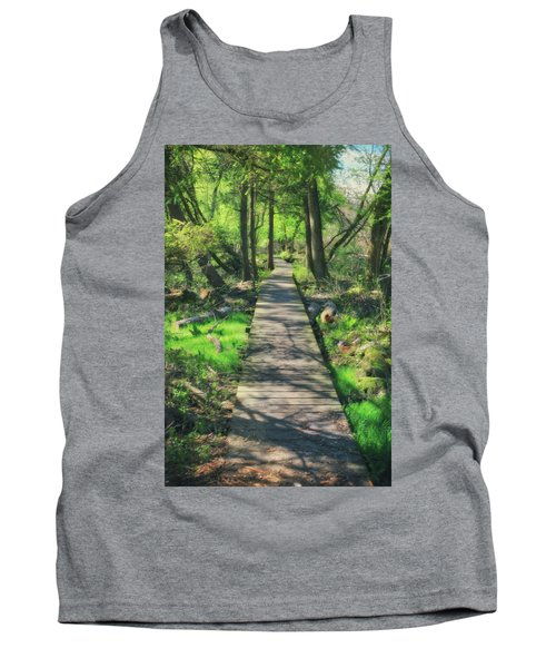 Wooded Path - Spring At Retzer Nature Center Tank Top by Jennifer Rondinelli Reilly - Fine Art Photography