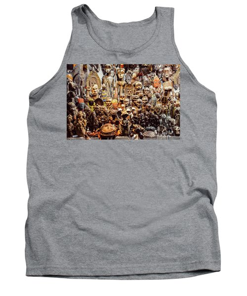 Wooden African Carvings Tank Top