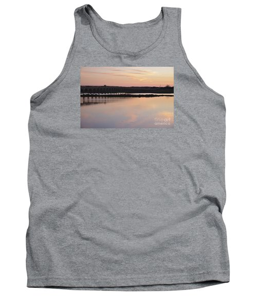Wooden Bridge And Twilight Tank Top by Angelo DeVal