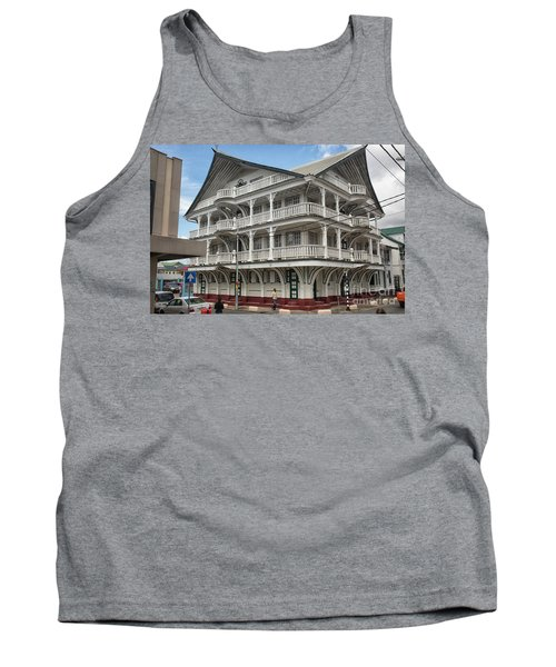 Wooden House In Colonial Style In Downtown Suriname Tank Top