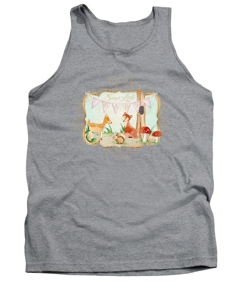 Woodland Fairytale - Banner Sweet Little Baby Tank Top