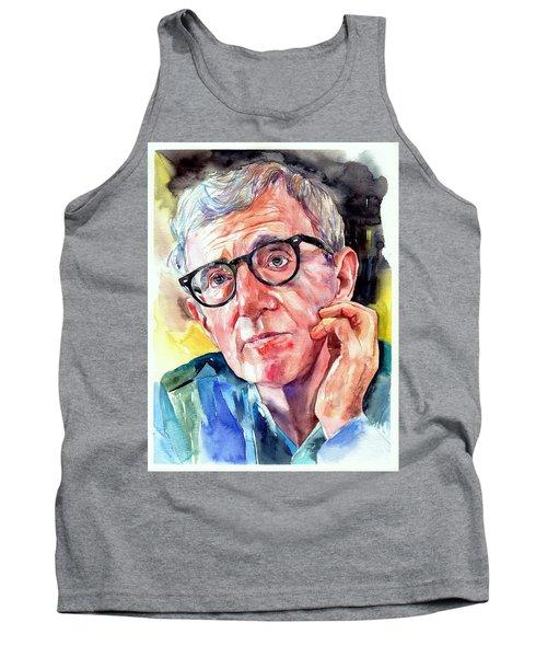 Woody Allen Portrait Painting Tank Top