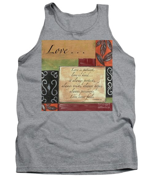 Words To Live By Love Tank Top