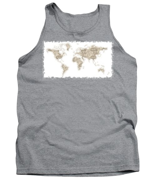 World Map Tank Top by Anton Kalinichev