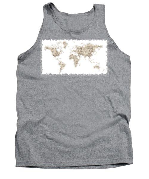 World Map Tank Top