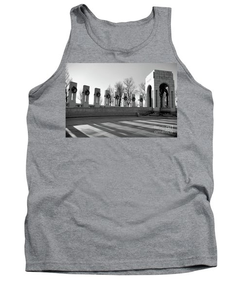 World War 2 Memorial Bw Tank Top