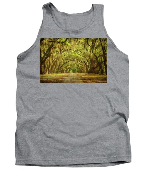 Wormsloe Plantation Oaks Tank Top by Priscilla Burgers