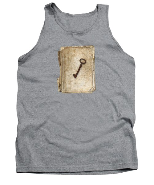 Worn And Tattered Book And Old Rusty Key Tank Top