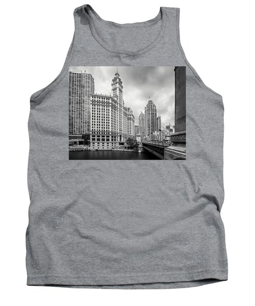 Tank Top featuring the photograph Wrigley Building Chicago by Adam Romanowicz