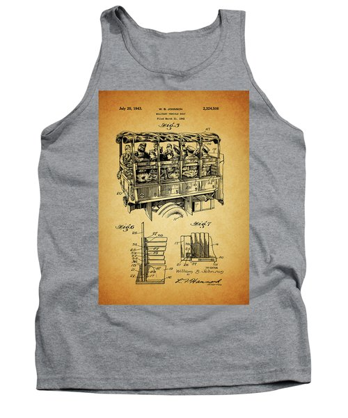 Ww2 Military Transport Vehicle Tank Top by Dan Sproul