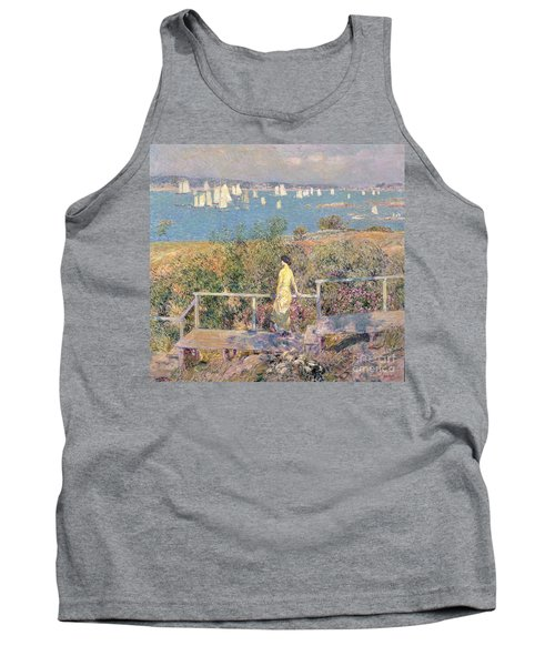 Yachts In Gloucester Harbor Tank Top