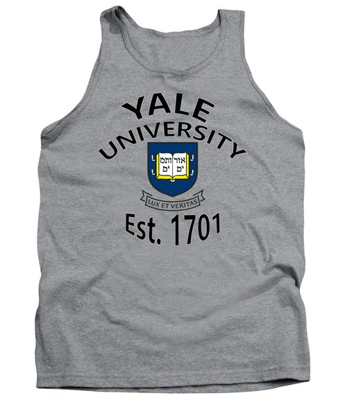 Tank Top featuring the digital art Yale University Est 1701 by Movie Poster Prints