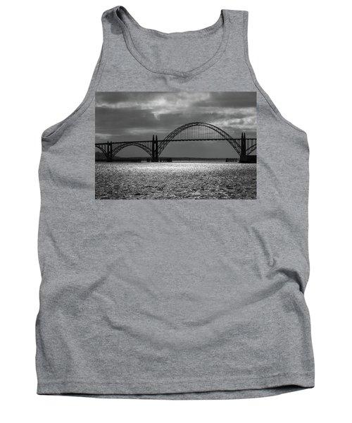 Yaquina Bay Bridge Black And White Tank Top