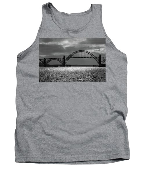 Yaquina Bay Bridge Black And White Tank Top
