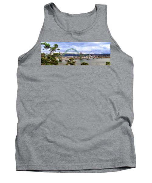 Yaquina Bay Bridge Panorama Tank Top