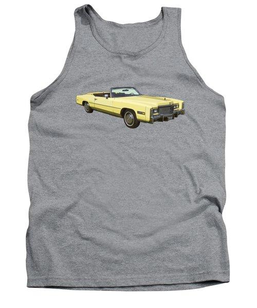 Yellow 1975 Cadillac Eldorado Convertible Tank Top