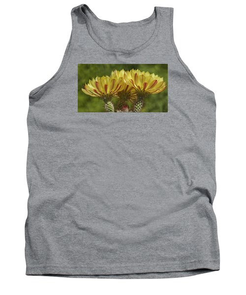 Yellow And Red Cactus Flowers Tank Top by Elvira Butler