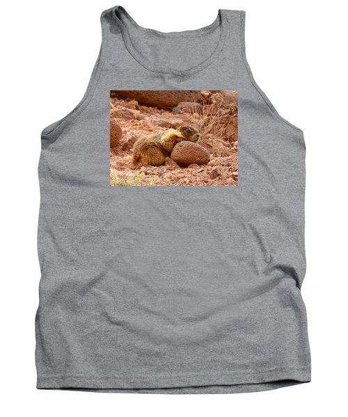 Yellow Bellied Marmot Capitol Reef Utah Tank Top