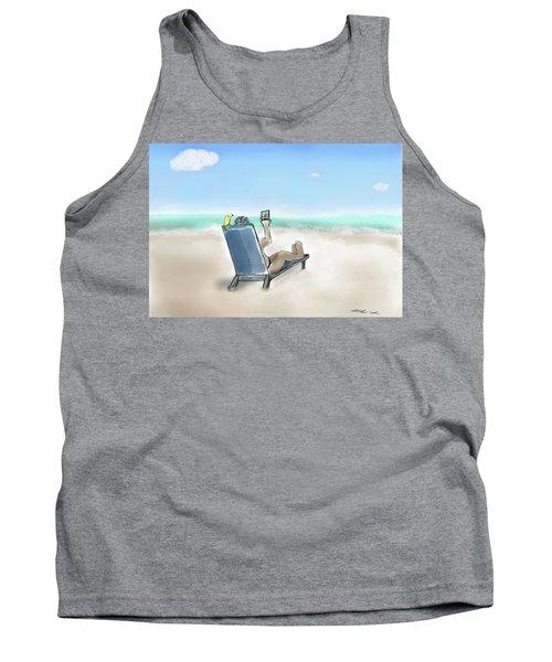 Yellow Bird Beach Selfie Tank Top