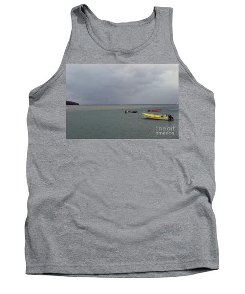 Tank Top featuring the photograph Yellow Boat by Gary Wonning