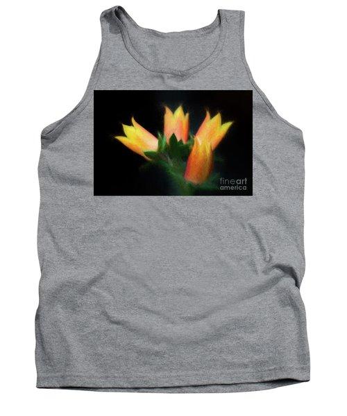 Yellow Cactus Flowers Tank Top by Darleen Stry
