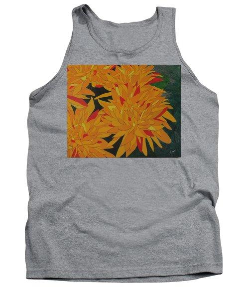 Yellow Chrysanthemums Tank Top