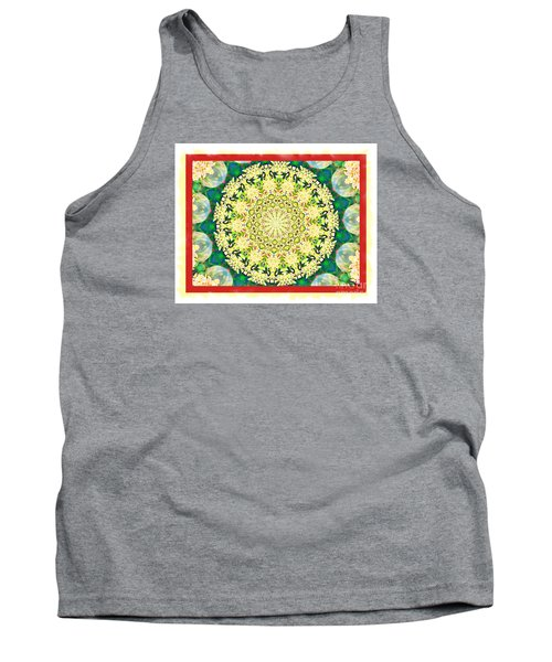 Yellow Floral Medallion Tank Top