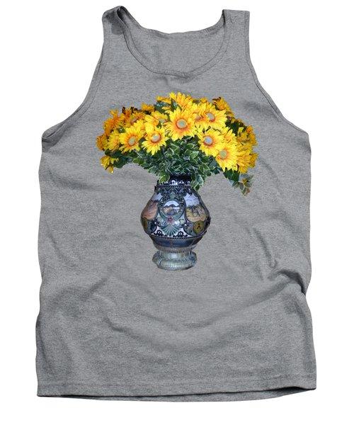 Yellow Flowers In Vase Tank Top