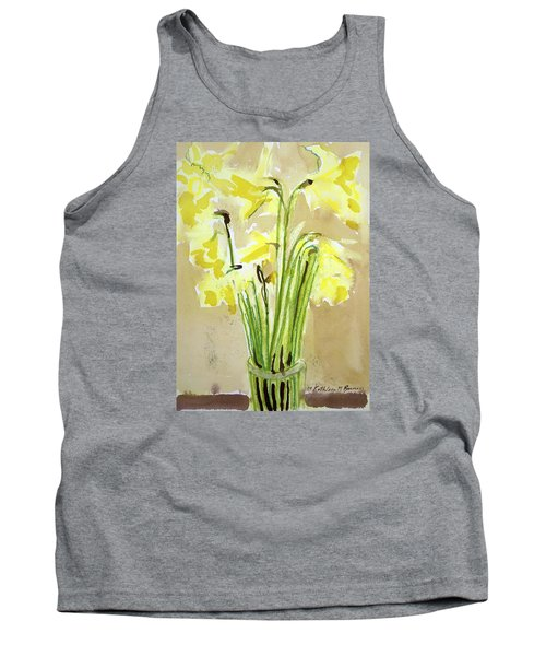 Yellow Flowers In Vase Tank Top