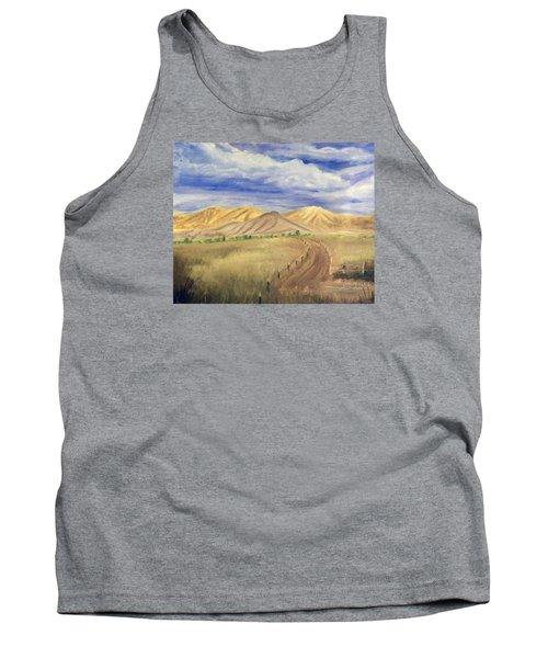 Yellow Hills Of Jensen Tank Top by Sherril Porter