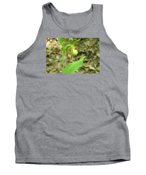 Tank Top featuring the photograph Yellow Lady-slipper by Linda Geiger