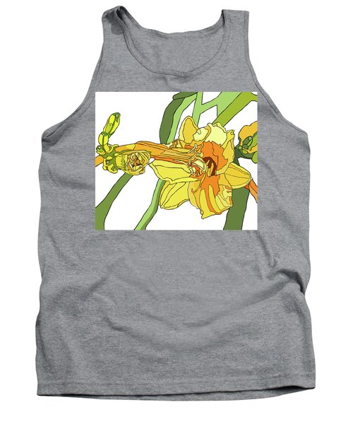 Yellow Lily And Bud, Graphic Tank Top