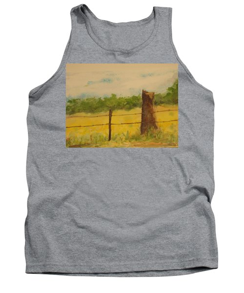Tank Top featuring the painting Yellow Meadow  by Vicki  Housel