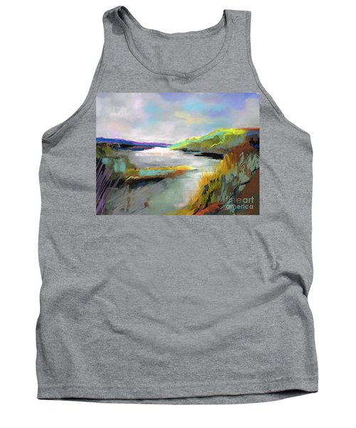 Yellow Mountain Tank Top by Frances Marino